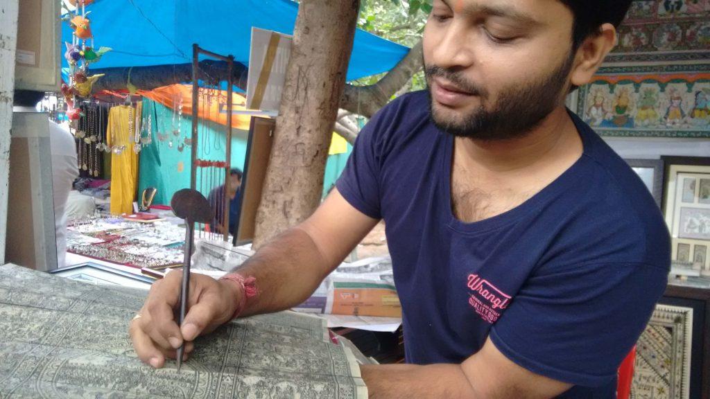 Mr.Debasish Sahoo, artist from Orissa
