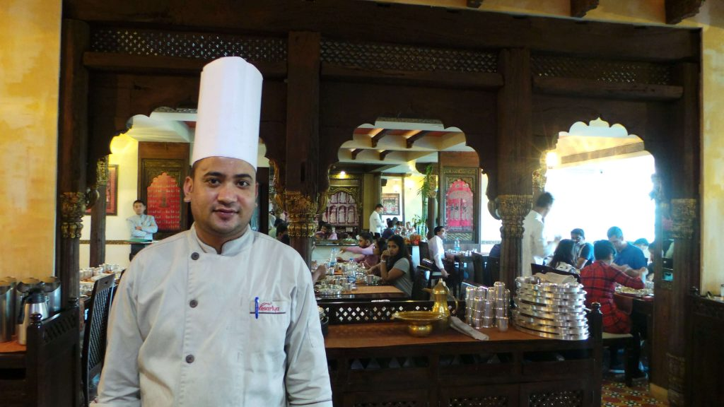Mr.Manohar, the Maharaj(chef) at Kesariya.