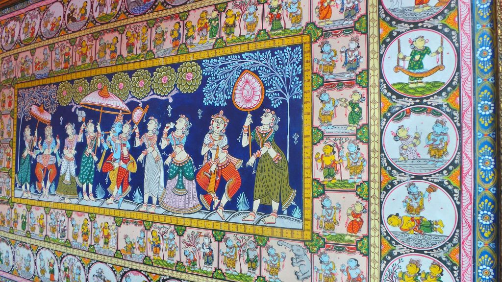Colourful and elaborate Patachitra
