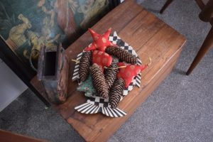 Pine cones and Decorations in Fabric