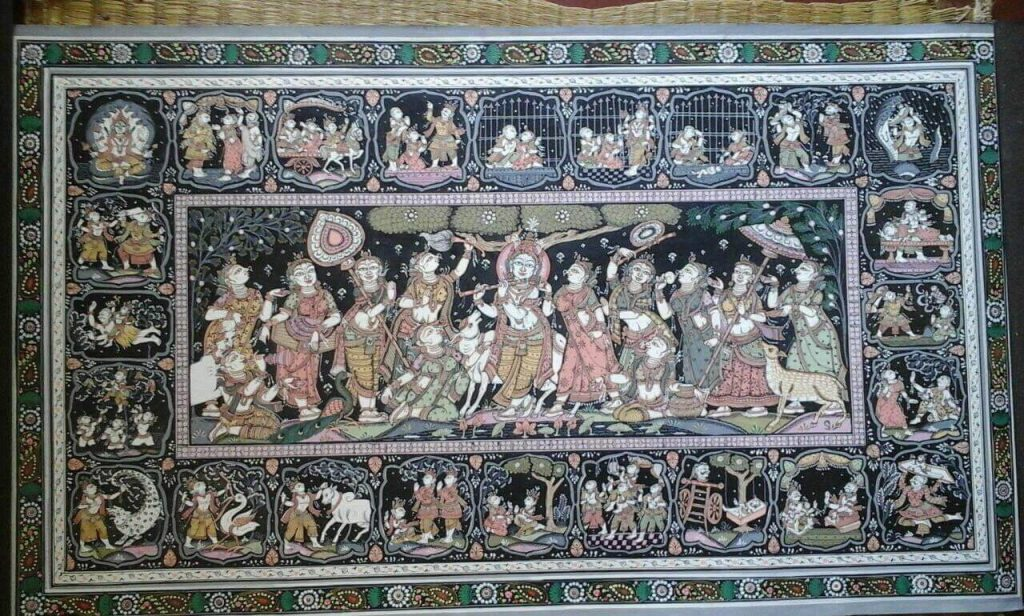 More of black is used in this patachitra
