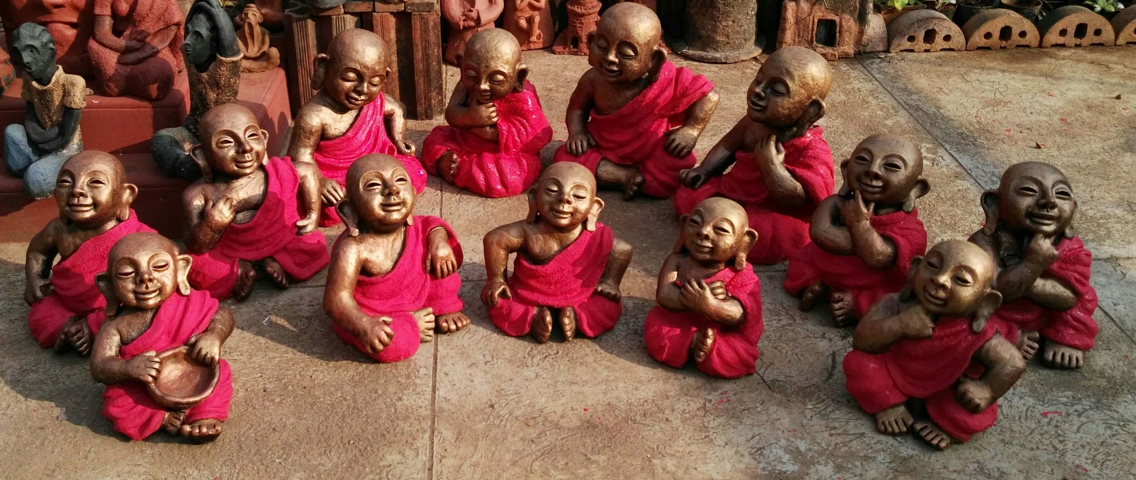 Buddhists Monks - by Terracotta artist Venki Palimar