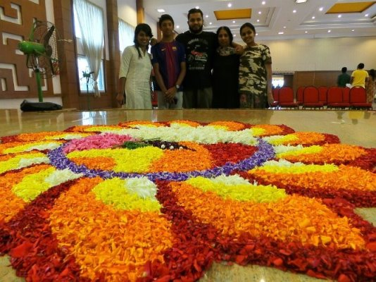Pookkalam for Onamotsav at ECA