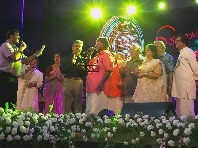 Onaraagangal by members at the Onamotsav
