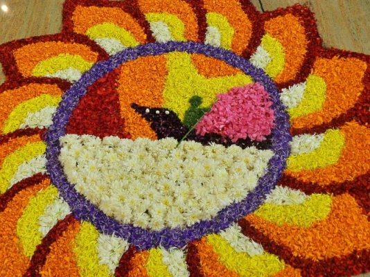 Pookkalam at ECA