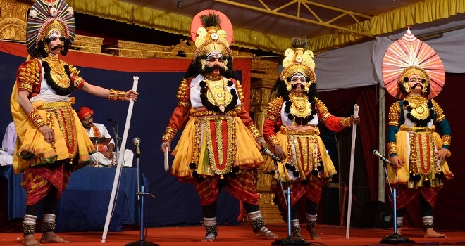 Yakshagana Performance- Thenku Thittu