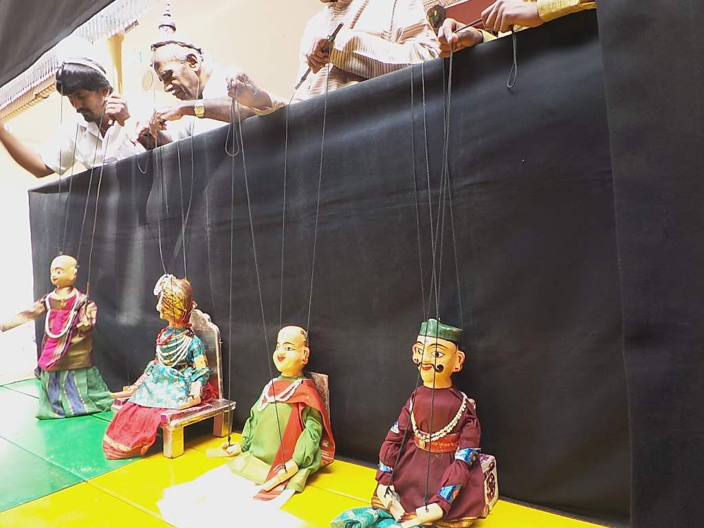 The Puppet show by Rangaputhali at Sankalpa