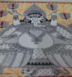 Madhubani by Vidushini Prasad at A Hundred Hands annual collective