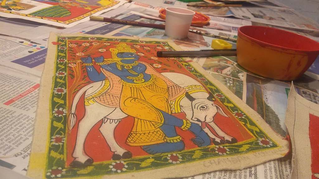 Cherial art scroll painting