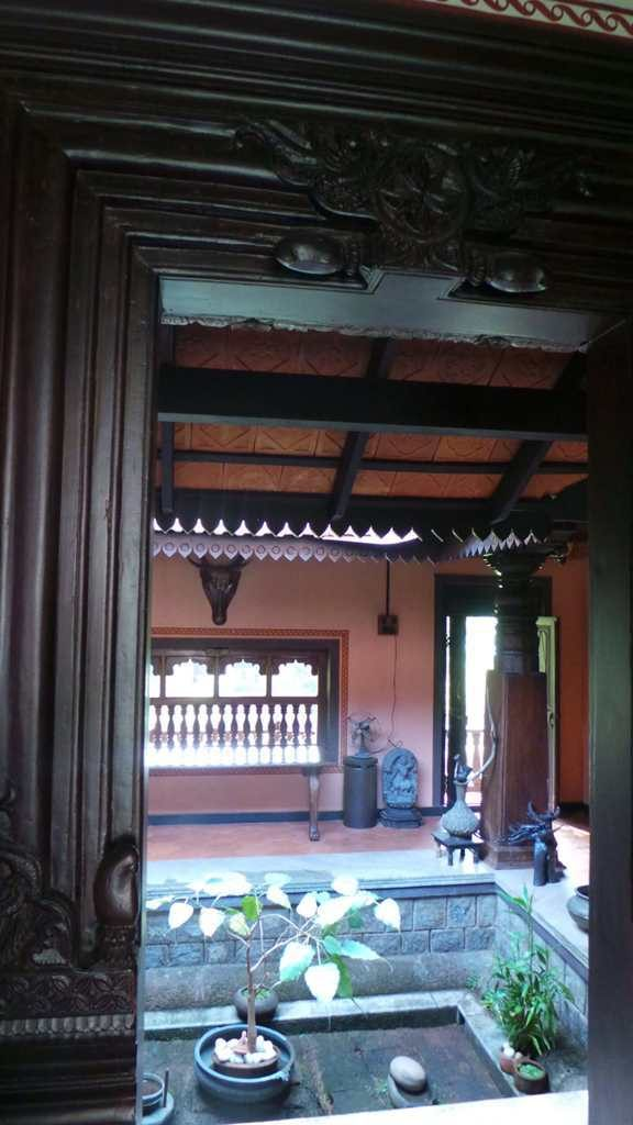 Mangalore tiles and rafters with open courtyard