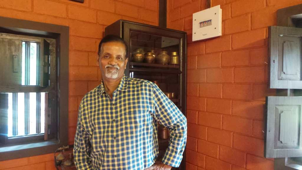 Mr. Krishnamoorthy Bhat at the Heritage Home Mayagundi